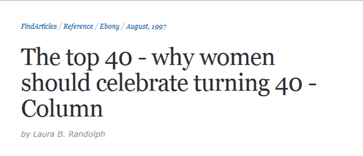 jokes about women turning 40
