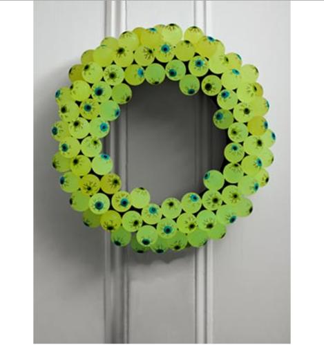 Eerie Eyeball Wreath via countryliving.com