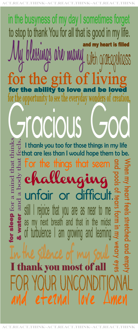 Poster by ME using prayer from EXPLOREFAITH.ORG