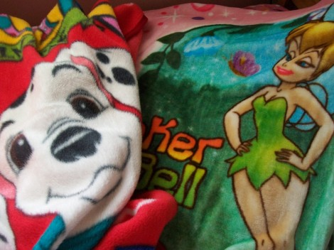 my children are all cuddled up under their Disney blankets so these are some of the others in my mom's blanket arsenal