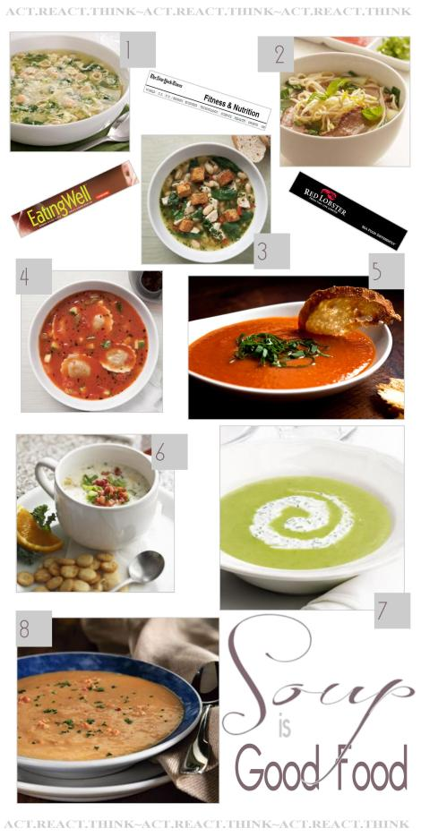 COLLAGE by ME with images from Eating Well, NYTimes, Red Lobster