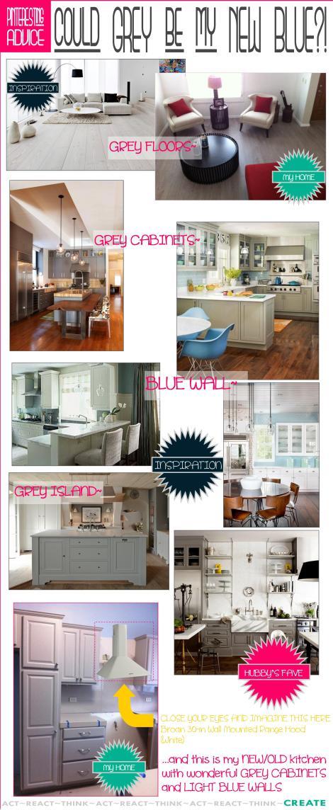 Kitchen Backsplash Grey White