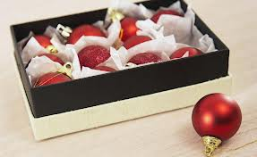 decorations in a shoe box