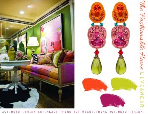 chartreuse magenta orange